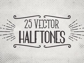 25 Retro Vector Halftones V2