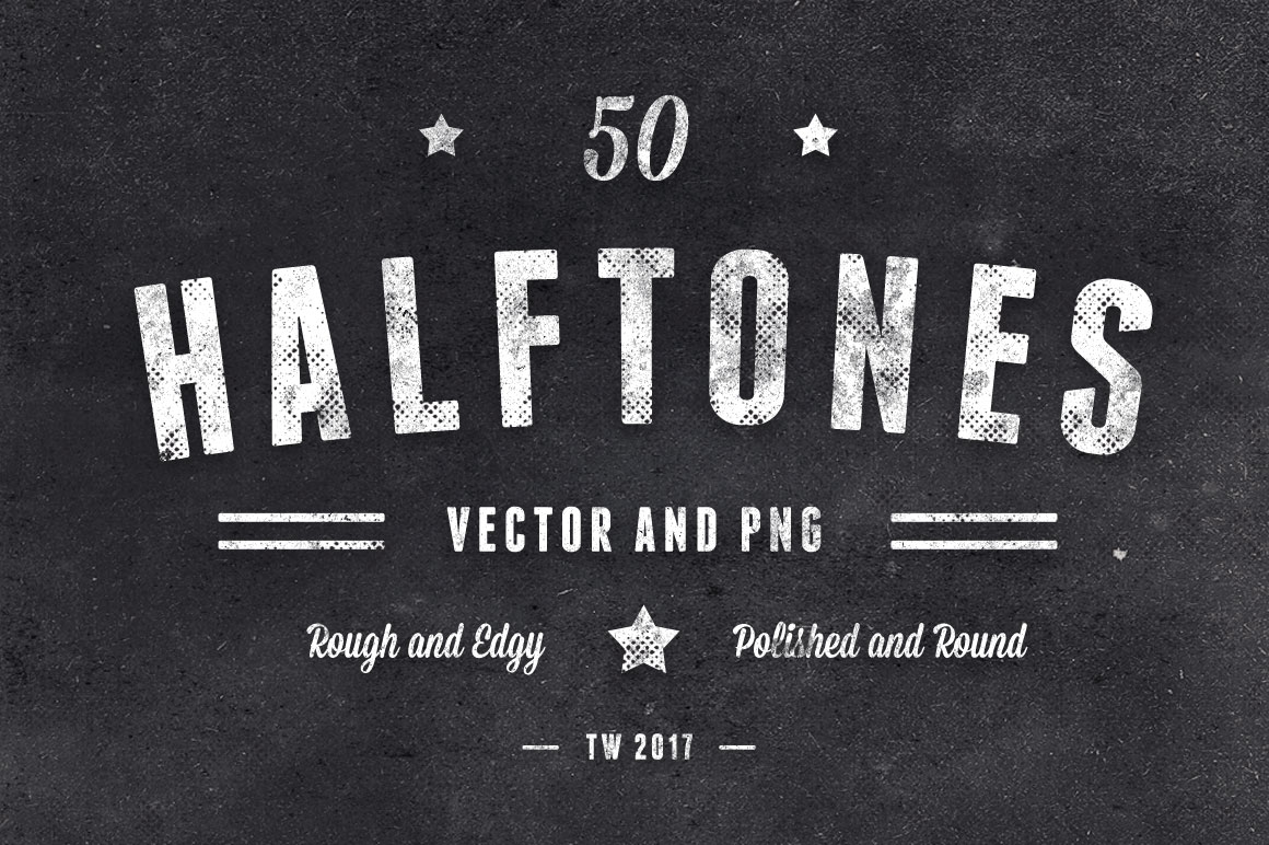 50 Halftones Rough Polished Main
